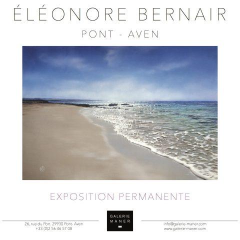 Superbe exposoitoon à la galerie maner peinture paysage maritime Eléonore bernair hyperréalisme
