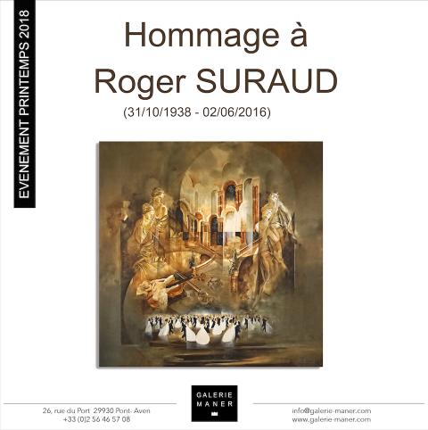 superbe rétrospective en l'hommage à l'ouvre de Roger SURAUD à la galerie Maner de pont-aven Venise masque carnaval écrivain chevauchée peinture philosophale héritage huile toile