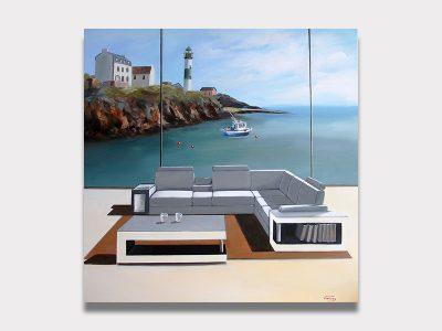 Vianney peinture le Doelan superbe oeuvre à la galerie Maner de pont Aven