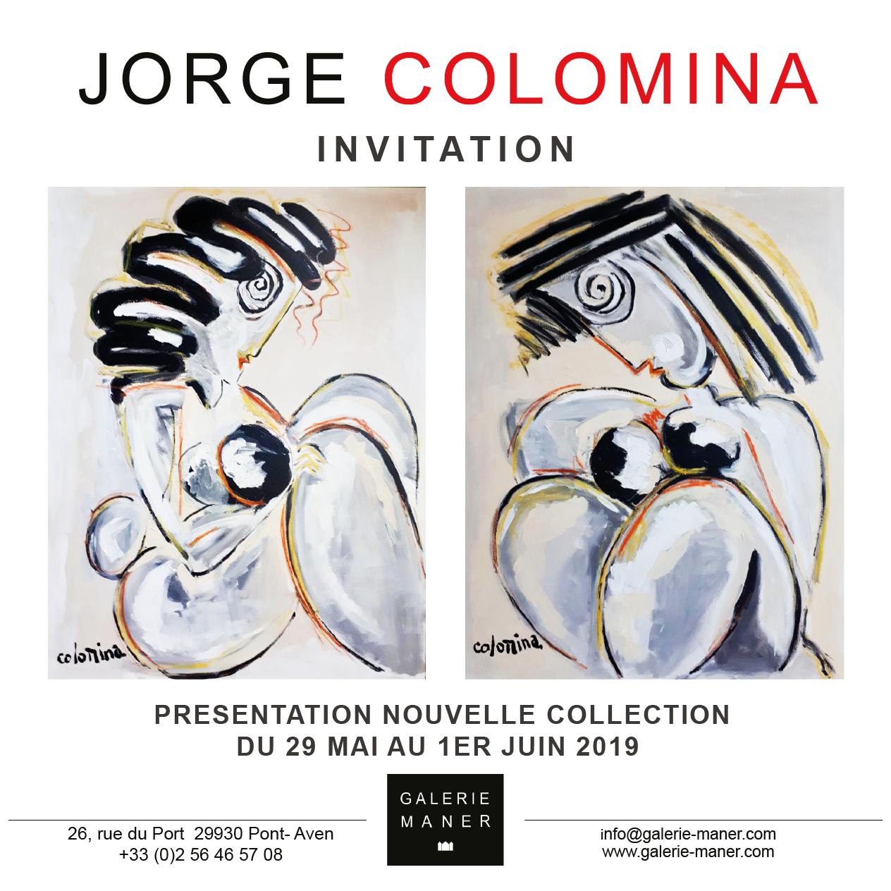 superbe exposition à pont aven figuratif abstrait nouvelle collection Jorge Colomina Galerie Maner 2019