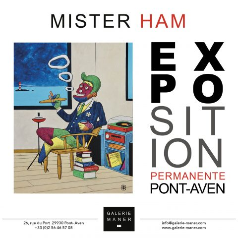Vernissage Mister Ham Pont-Aven 2019 Monsieur B peinture illustration BD