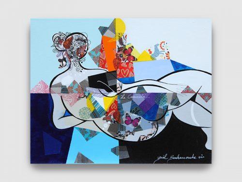 Yoel BENHARROUCHE Galerie Maner Oeuvre magnifique femme curiosité